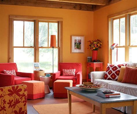 Orange Living Room Ideas Add Color To Your Living Room Orange Living Rooms Home Color Schemes And Living Rooms