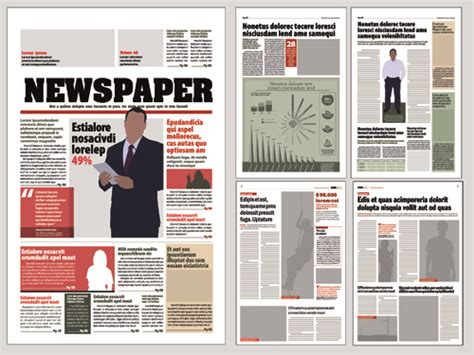 free newspaper layout design templates typesetting newspaper vector templates 03 vector