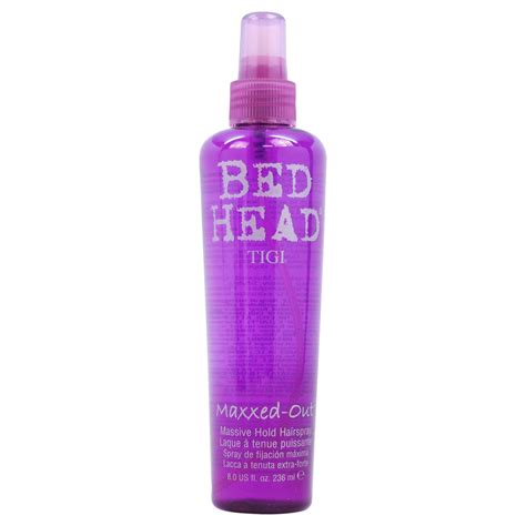 bed head hair spray tigi bed head maxxed out massive hold hair spray by for