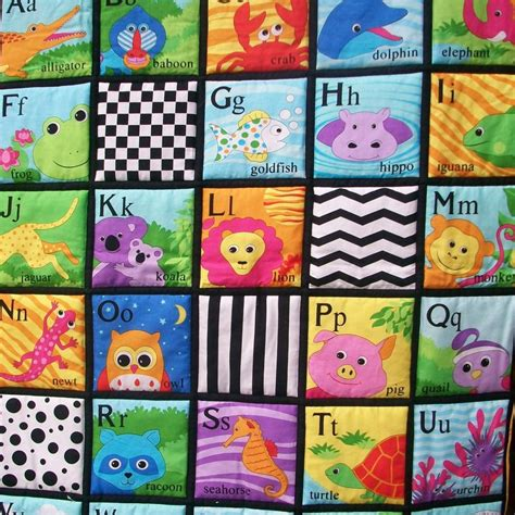 My Alphabet Foodie Wall Hang alphabet colorful quilted wall hanging playmat on luulla