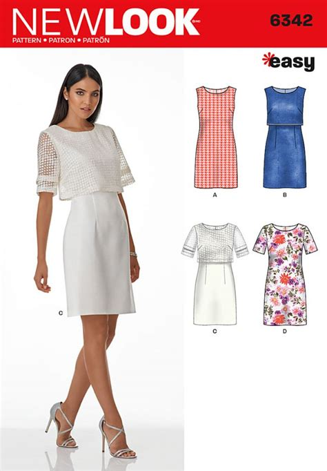 youtube pattern for a shift dress 6342 new look pattern ladies shift dress with optional