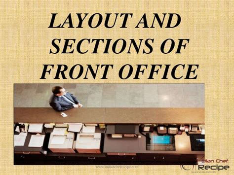 layout of front office layout and sections of front office
