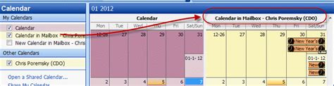 Open My Calendar Tip 282 Displaying Calendar Names In Outlook 2003