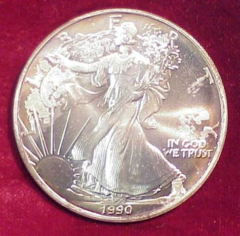 1 Oz Silver One Dollar - 1990 american eagle 1 oz silver dollar