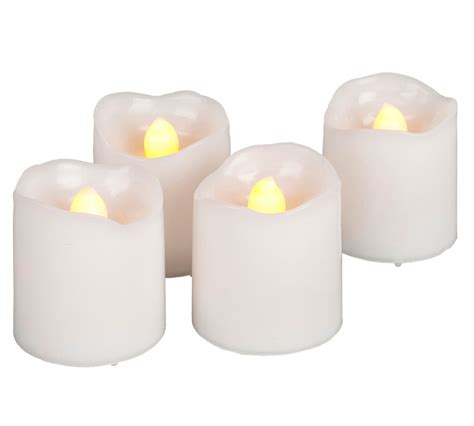 battery operated candles white votive candles 4 pack battery operated