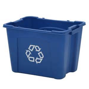 recycling bins for home rubbermaid commercial products 14 gal recycling bin