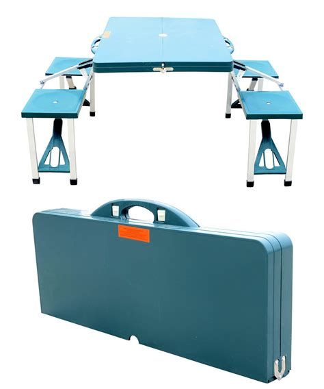 portable picnic table with benches outsunny portable picnic table hobbr little tikes