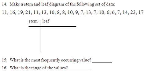 Stem And Leaf Plot Worksheets by Miss Kahrimanis S Stem And Leaf Plots Charts