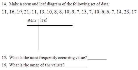 Stem And Leaf Plot Worksheet by Miss Kahrimanis S Stem And Leaf Plots Charts