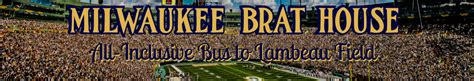 brat house packer shuttle falcons packers milwaukee brat house rally bus from