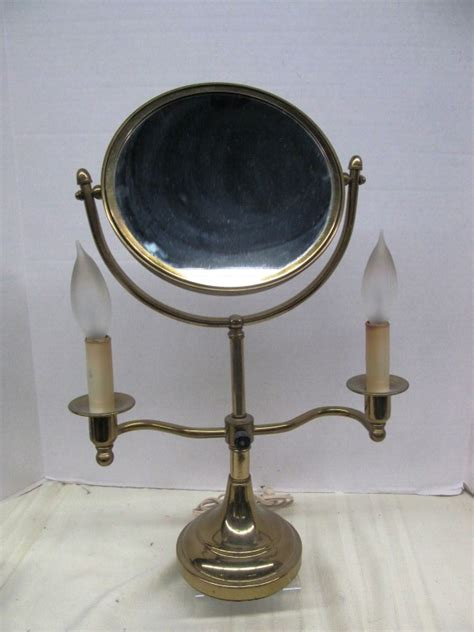 Vintage Vanity Mirror With Lights by Vintage Vanity Makeup Mirror W Electric Quot Candle Quot Lights On