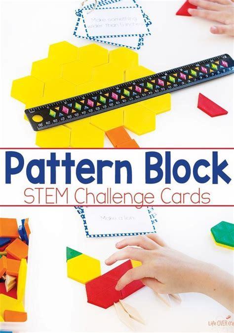 pattern block center activities pattern block task cards free printable stem challenges