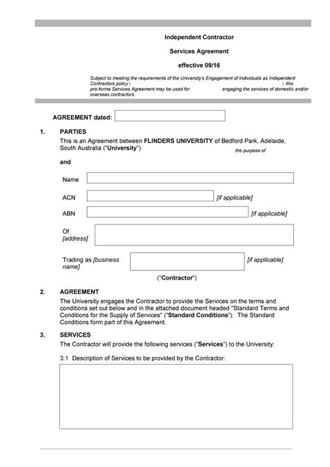 independent contractor agreement free template 50 free independent contractor agreement forms templates