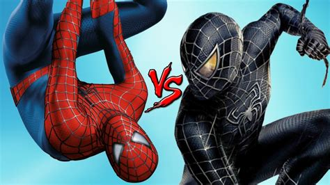 black spiderman spider man vs black spiderman epic battle superheroes