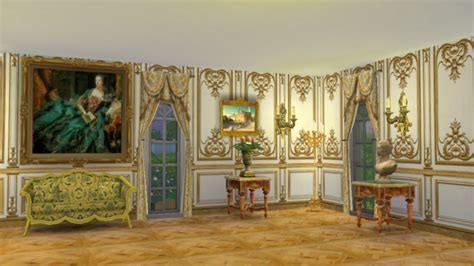 Versailles Bedroom Wallpaper Versailles One Story Wall Panel At Regal Sims 187 Sims 4 Updates