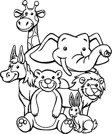 Zoo Coloring Pages For Preschoolers Coloring Pages Zoo Animal Coloring Pages For Preschool