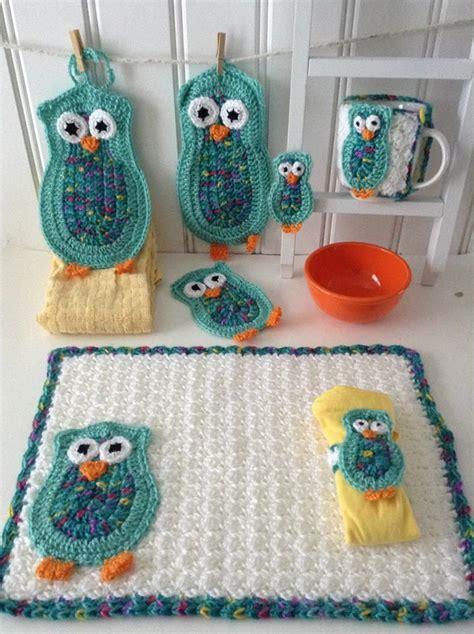 owl bathroom sets pin by liz pitchfork on crochet pinterest crochet owl