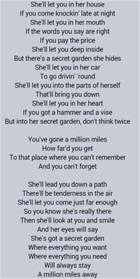 Bruce Springsteen Secret Garden Lyrics by Bruce Springsteen Secret Garden Probably Favorite