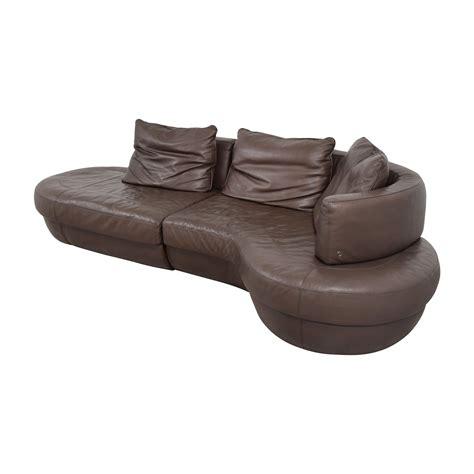 natuzzi brown leather 87 natuzzi natuzzi rondo brown leather curved