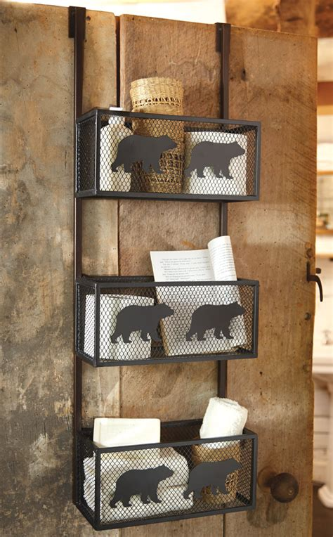 bear bathroom bear bathroom door shelf