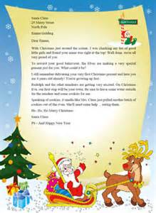 Free Santa Reply Letter Template Gallery For Gt Letter From Santa To Kids