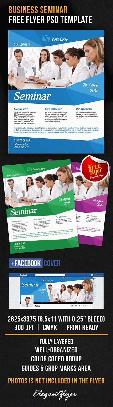 business seminar free flyer psd template facebook