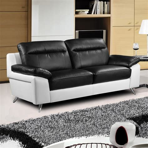 Nuvola Italian Inspired Modern Black And White Sofa Collection