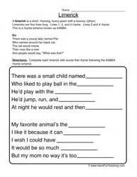 limerick template printable limerick worksheet abitlikethis