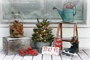 the cozy old quot farmhouse quot a quot junky quot christmas porch