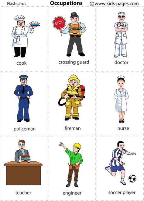 Printable Flash Cards Jobs | occupations 1 flashcard