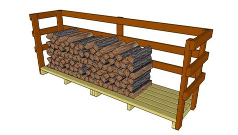 firewood storage shed plans  garden plans