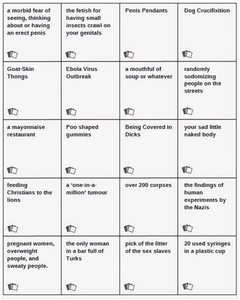 Cards Against Humanity Cards Word Template by Expand Your Cards Unofficial Cards Against Humanity