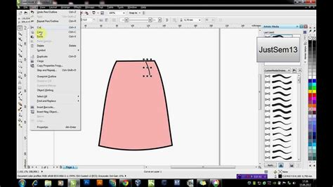corel draw x7 dersleri coreldraw ile basit etek 199 izimi youtube