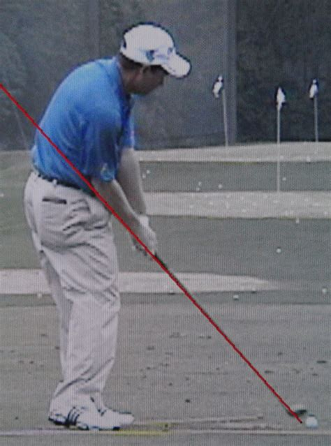swing vision down the line shaft angle at impact ii