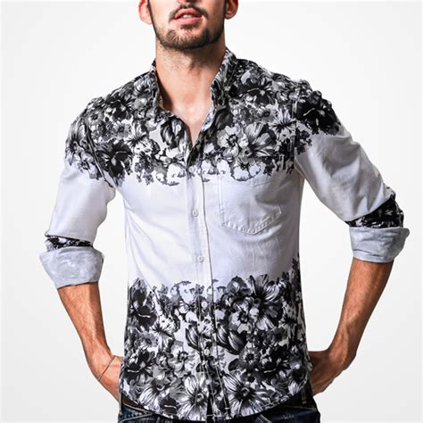 Baju Atasan Blouse Tunik Black Fall Flowers M Import Original 2015 fall new designer stylish mens white with