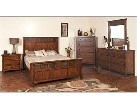 santa fe bedroom furniture sunny designs santa fe 4pc petite bedroom set su 2333dc set