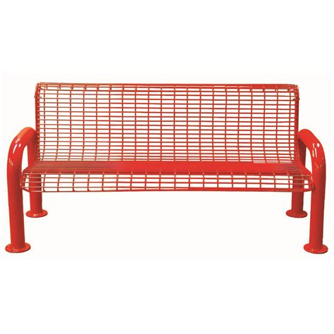 metal bench with back 6 wire metal bench with back u leg childforms