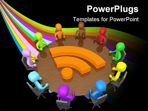 ppt templates for group discussion computer generated image community discussion