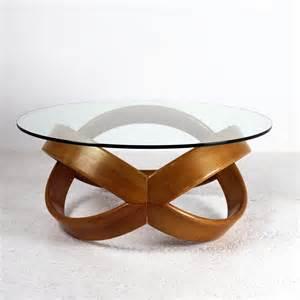 table basse verre bois