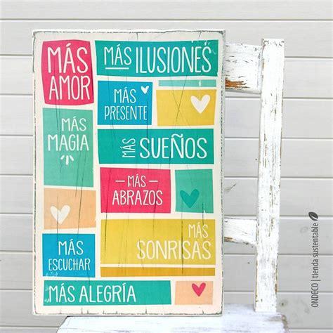 imagenes vintage con frases para imprimir cuadro vintage con frase m 225 s amor en colores cuadros