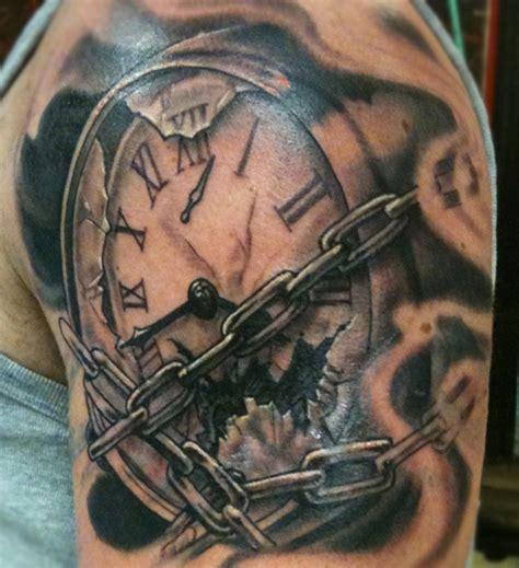 broken clock tattoos designs www imgkid com the image
