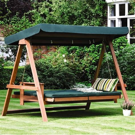 swing garden bench floating beds for room and garden a swinging joy