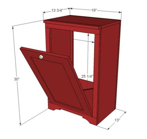 tilt out cabinet plans diy wood cabinet to stash your trash