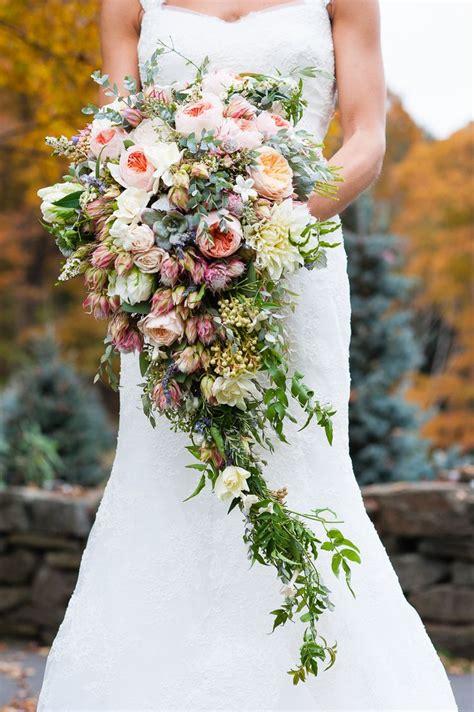 a lush cascading bridal bouquet chic vintage brides