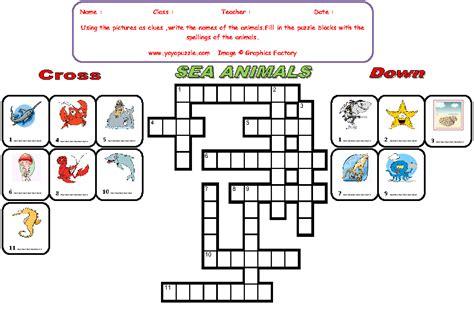 sea crossword free worksheets 187 classifying animals worksheet free math worksheets for