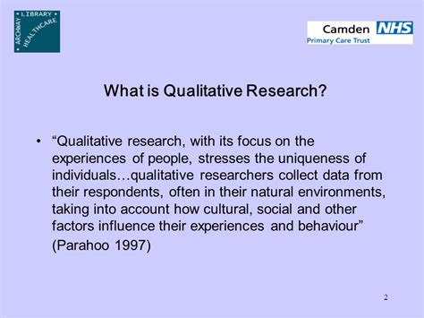 what is the research qualitative research richard peacock clinical librarian
