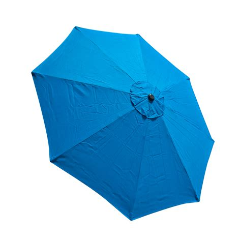 Patio Umbrella Replacement Covers 9 Ft 8 Ribs Replacement Umbrella Cover Canopy Blue Top Patio Market Outdoor Ebay