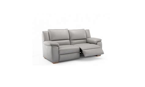 land of sofas teby recliner leather sofa comfyland
