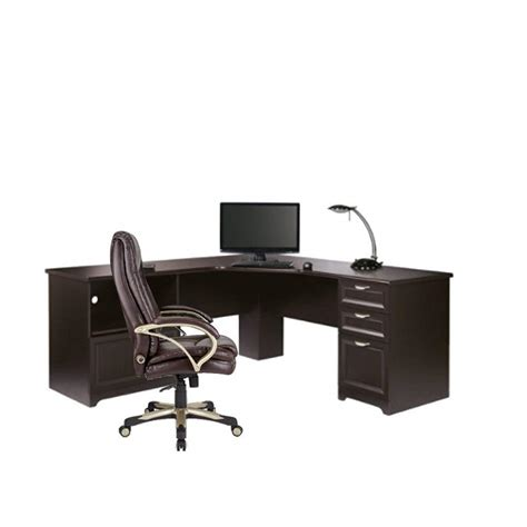 realspace magellan performance collection l desk espresso realspace 174 magellan performance collection l desk 30 quot h x
