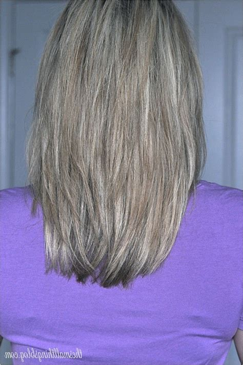 pictures of medium haircuts with shaped back long layered hair back view long layered hair v shape